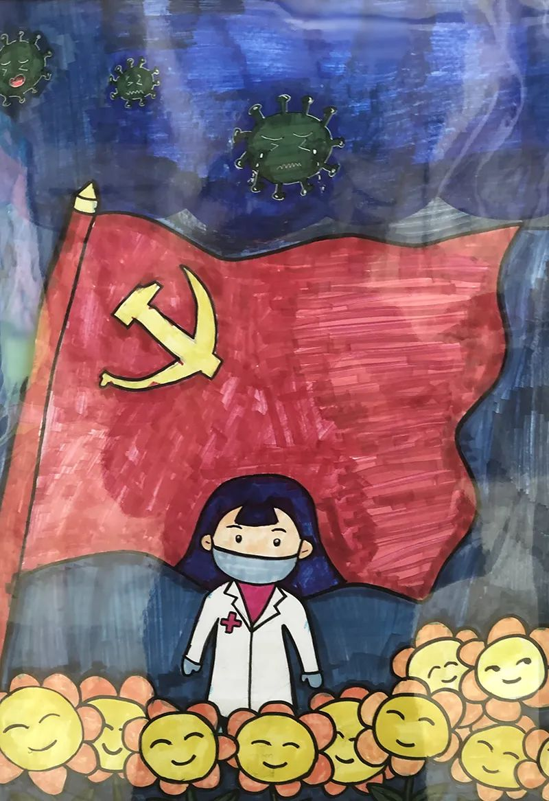 少儿绘画展_文化随行-2020年滨海新区少儿爱国主义主题绘画作品展昨日开展